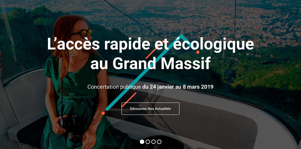 L'accès rapide et écologique au Grand Massif
